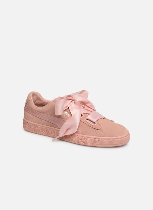 Baskets Puma W Suede Heart Ep Rose vue 3/4